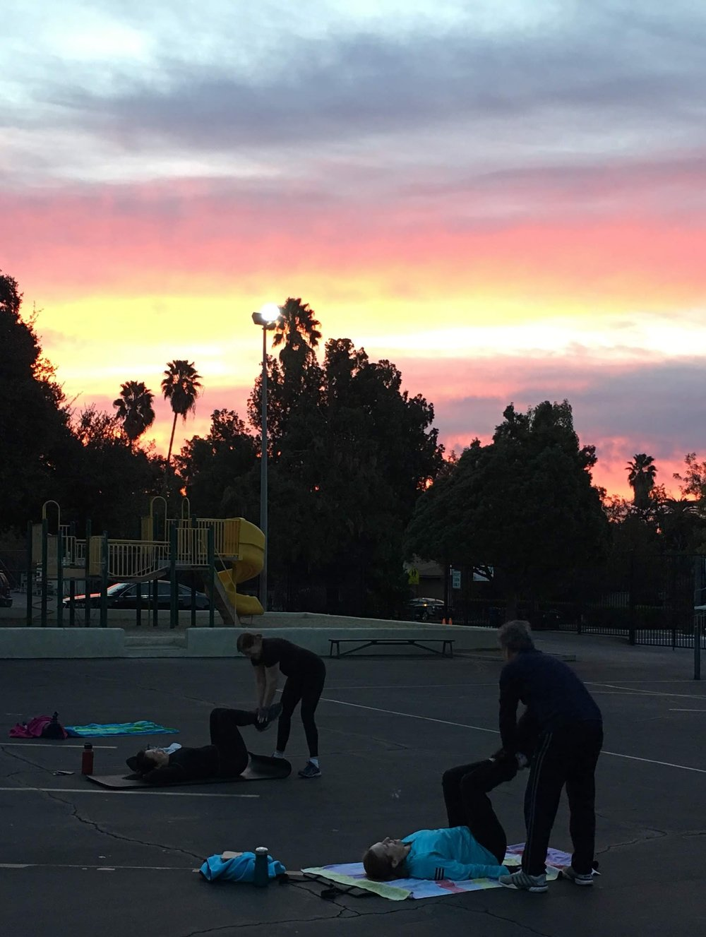December Morning Boot Camp in Altadena, CA