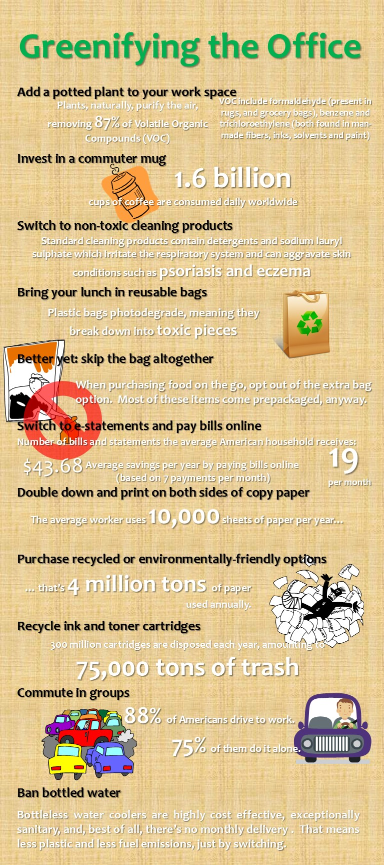 World Environment Day, June 6, 2013. Simple ways to make your office greener.