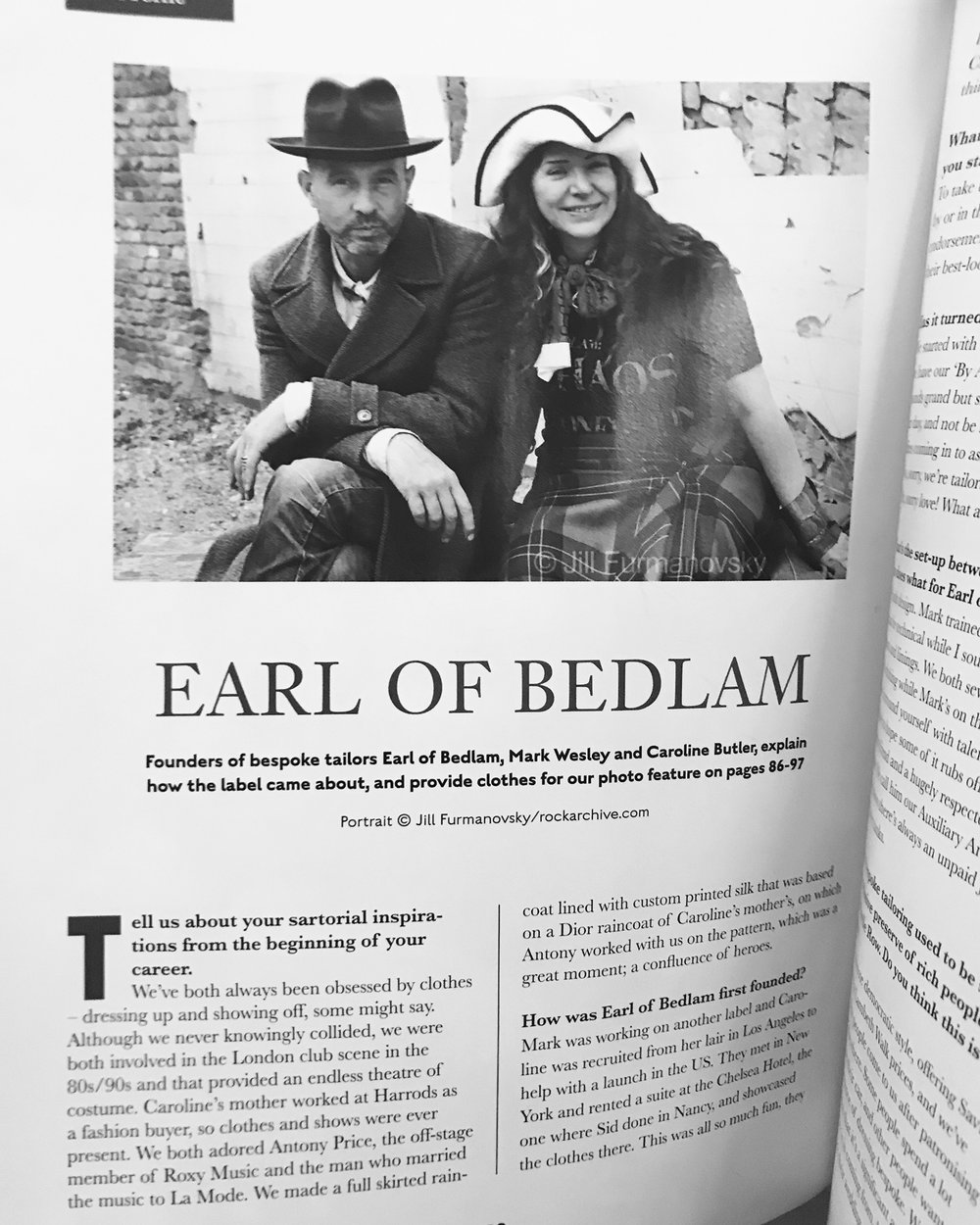 Opening page of the feature on Earl of Bedlam in the Autumn / Winter 2017 issue of The Chap  - order yours here:    http://thechap.co.uk/2017/05/brand-new-chap/