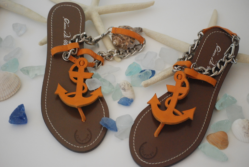 Rhode Island Interior Designer, orange sandals.JPG