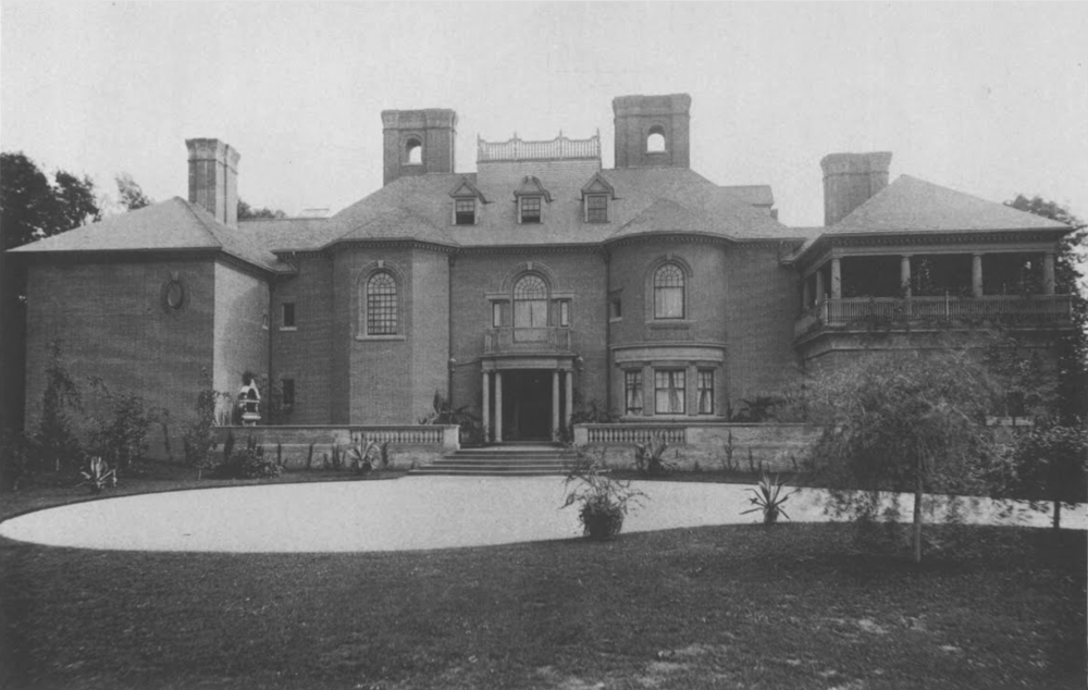 Historic photo of the front facade