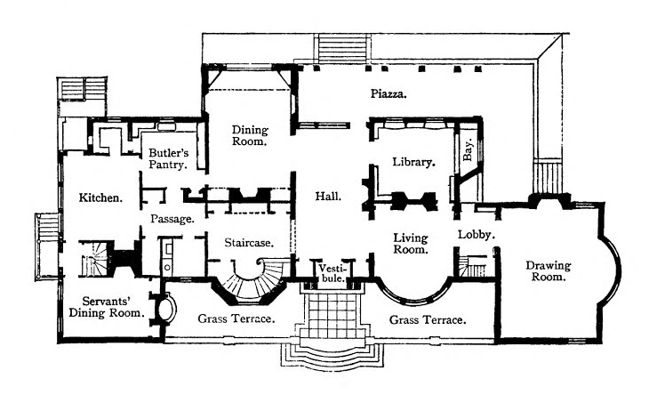 Floorpan by McKim, Mead & White
