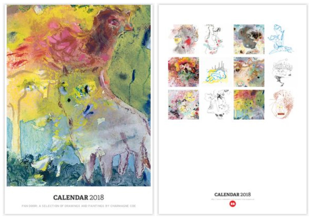 Calendars featuring selections of my fine art hand drawings and paintings are available at RedBubble for $24. Functional art is a wonderful way to infuse your surroundings with beauty and thoughtfulness. <3