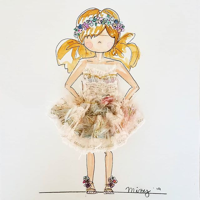 While it's freezing outside, i'm dreaming about all the cute outfits I want to wear this Spring.  #southernbelle #pretty #fashionkids #design #handmade #floralcrown #nyc #illustrations #instagram #ootd