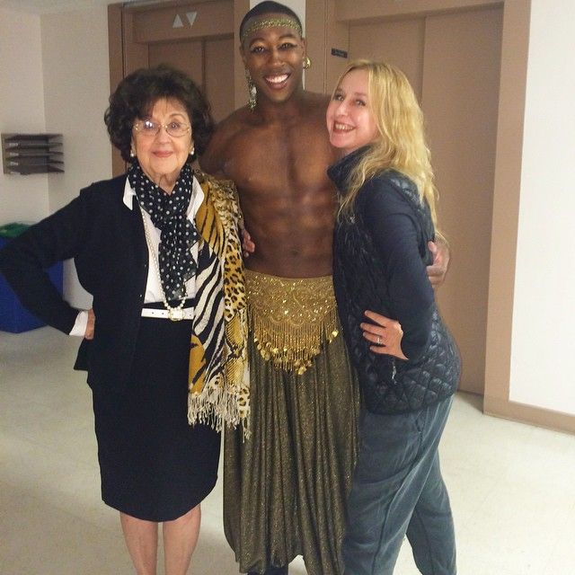 with the divine Marta Domingo + Louis Williams    backstage | LA Opera