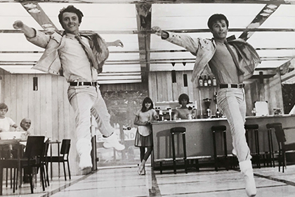 "With George Chakiris in ""The Young Girls of Rochefort"""