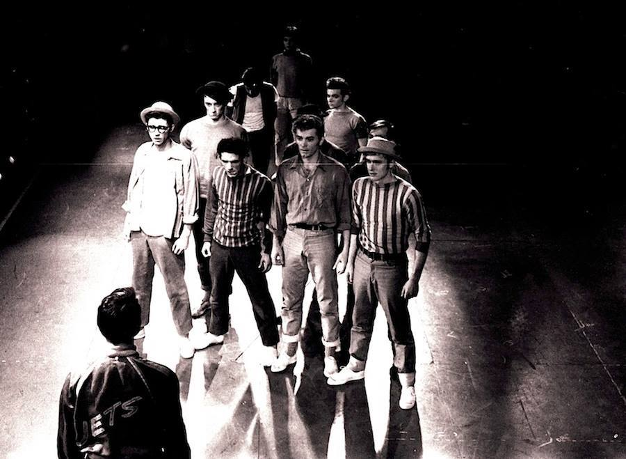 "in rehearsal for Original production of ""West Side Story"""