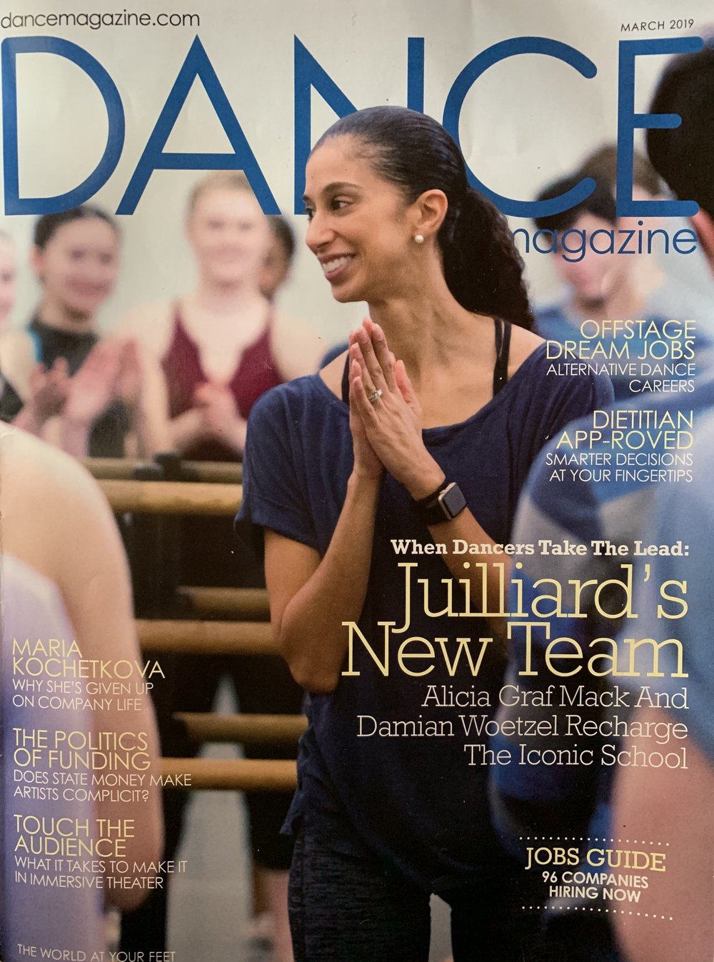 Dance Magazine! - So excited to be featured in Sylviane Gold's piece on the Abbott Award Commissions! Read the full article below or click here.