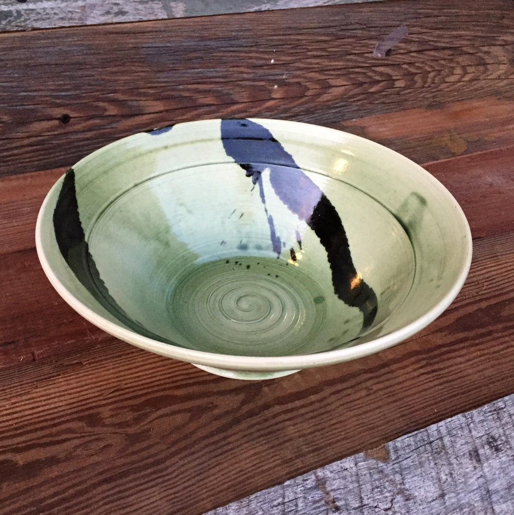 Handthrown B&W Porcelain Bowl
