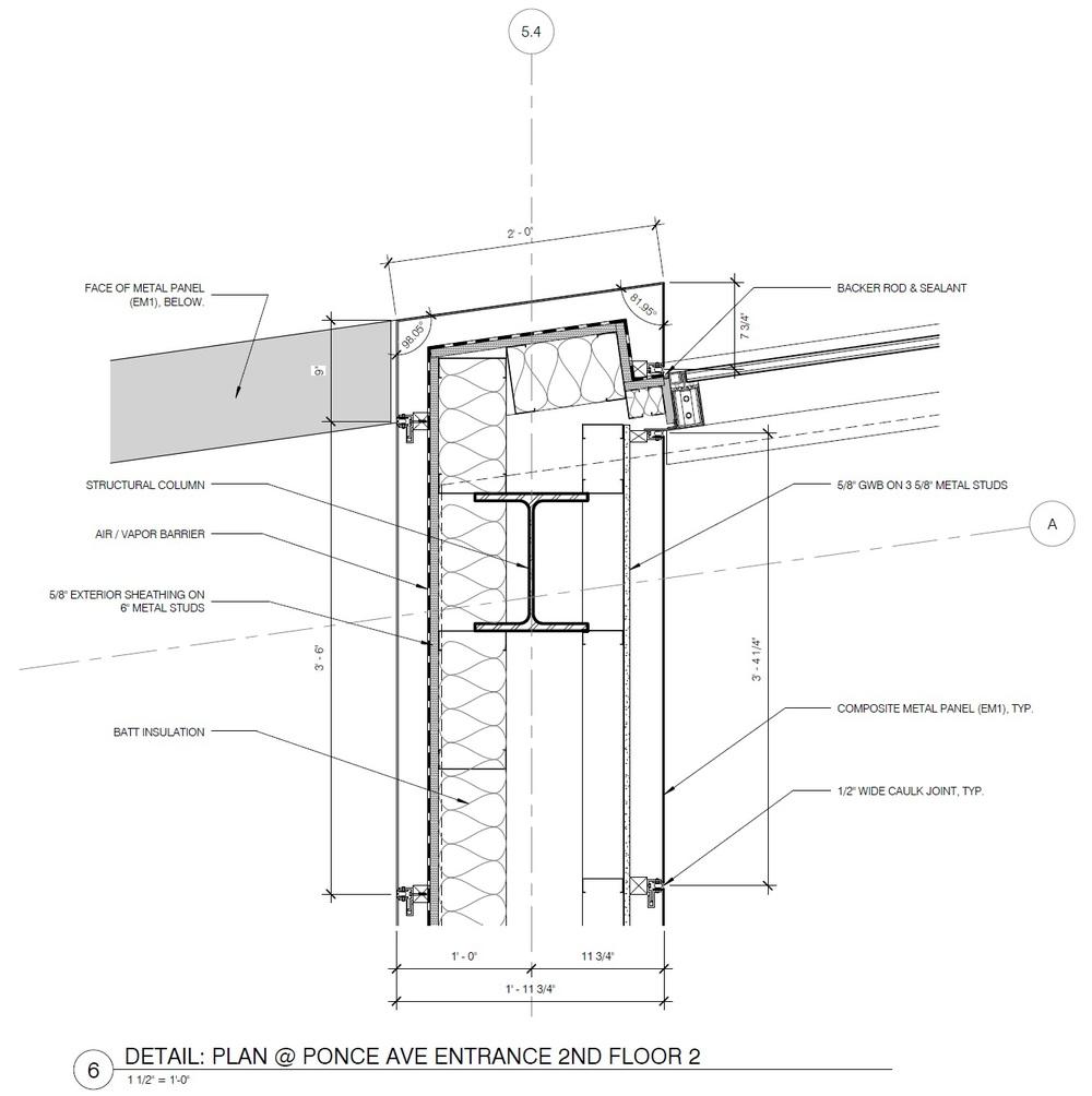 Metal Curtain Wall Details : Emory proton treatment center — meg taylor