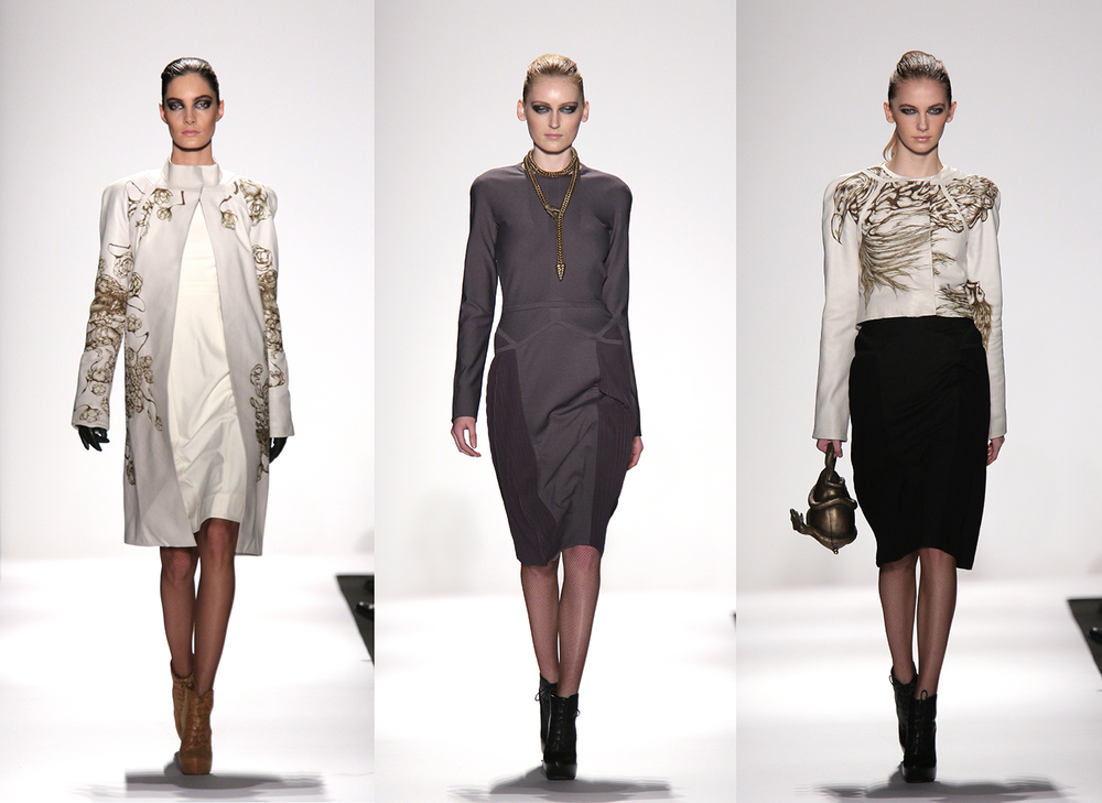 Runway images from Mercedes-Benz fashion week.