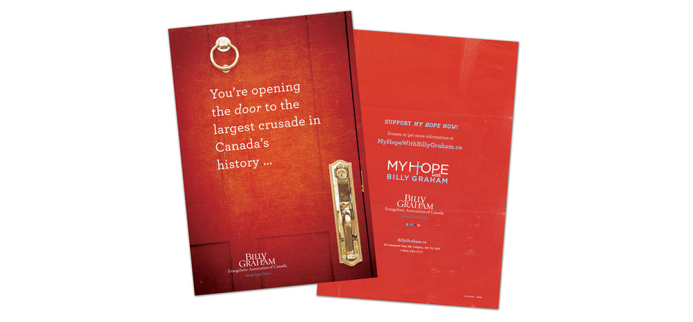 The front and back of the brochure.