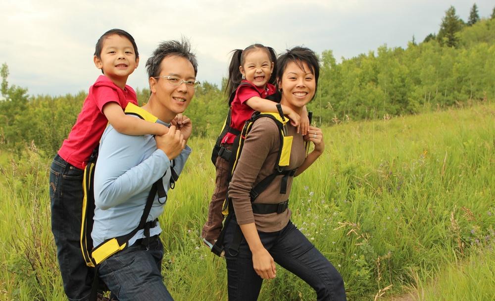 Monkeyback child carrier backpack
