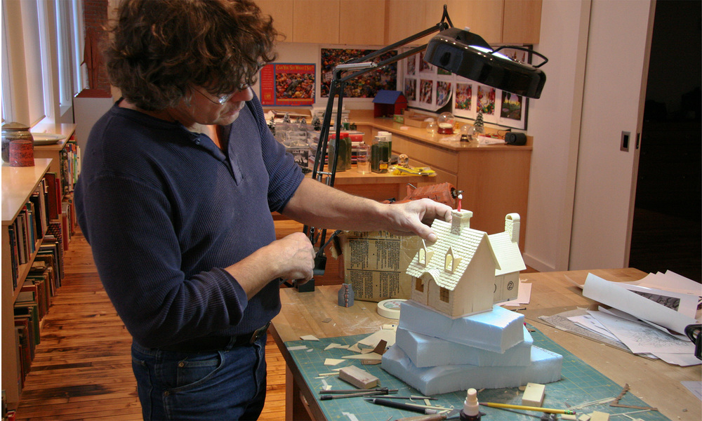 Model maker Randy Gilman