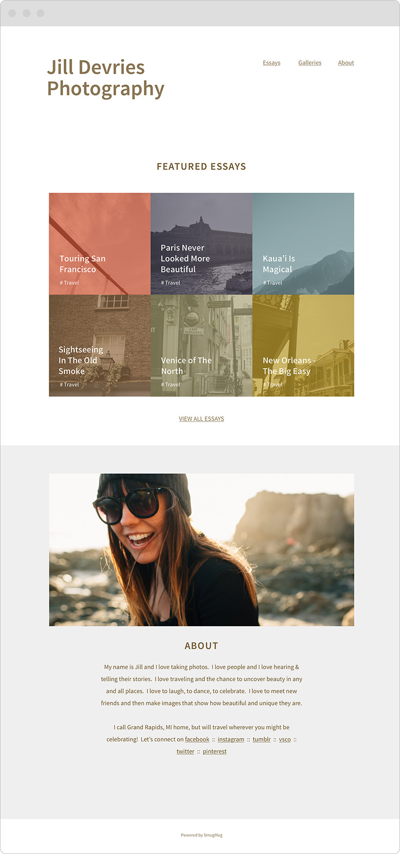 A card-stack metaphor brought a dynamic spotlight to the homepage. Photo and message regions were modular for easy content swapping.