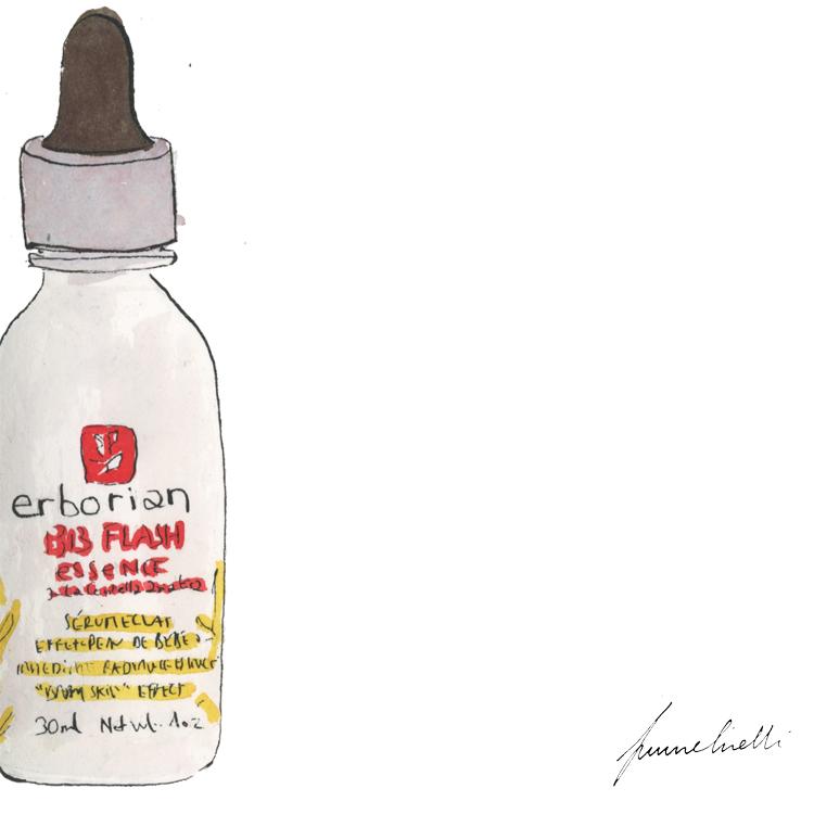 cette BB flash essence est, pour moi qui n'aijamais réussi à aimer les BB creams, le petit coup d'éclat avant soirée idéal, sérum léger et imperceptible, il tend une toile de fond fraiche sur le visage