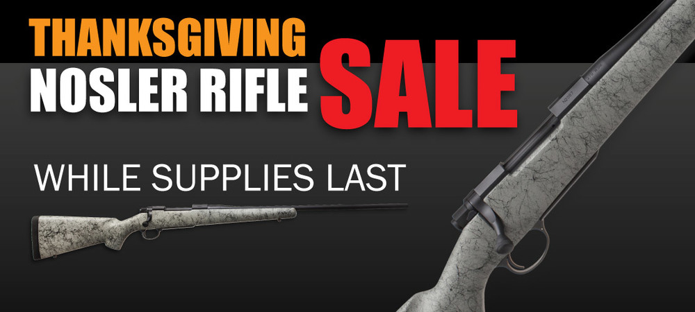 Nosler Rifle Sale Banner
