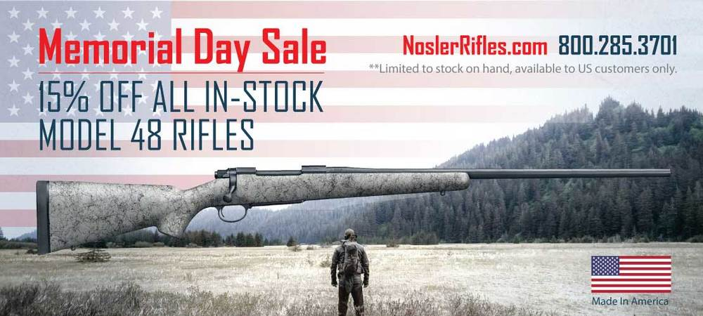 Memorial Day Sale Rifle Banner