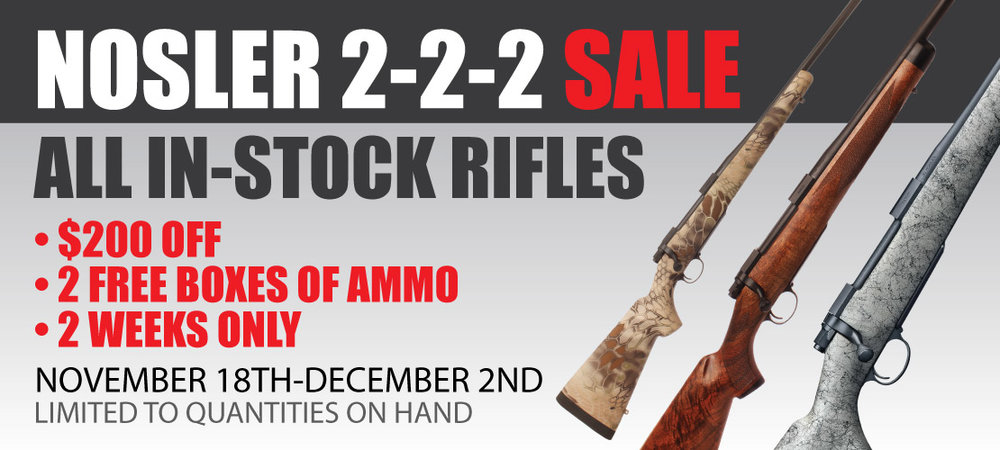 Custom Rifle Sale Banner