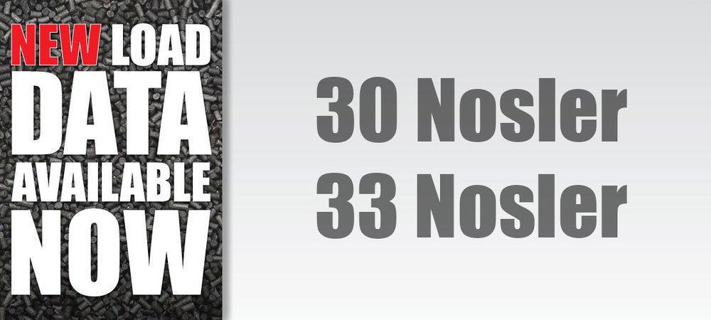 30 and 33 Nosler New Load Data Banner
