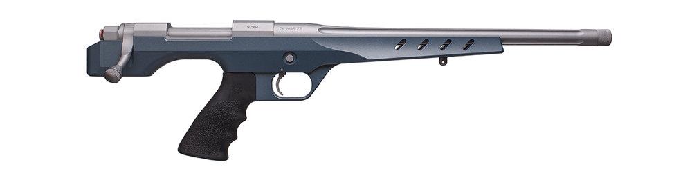 BBL/Action: Satin Mag H-147Q  Stock: Blue Titanium H-185