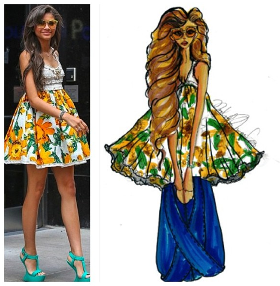 Disney star Zendaya is set to play late singer Aaliyah in a new lifetime bio pic. Zendaya is a very talented multi hyphenate performer. Many industry insiders are predicting that she will be the next Jlo. She can act sing, and dance, and already has a huge fan-base on the Disney Channel. We loved this image of her in this flower filled dress so much that we did an illustration featuring her rocking one of our handbags.   nn