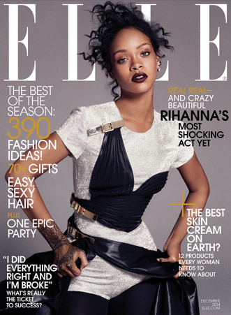 First Rihanna came back to instagram! Now she drops this amazing cover! Of course she is keeping all the way 100 like she always does! Read the full article here. Image via www.elle.com