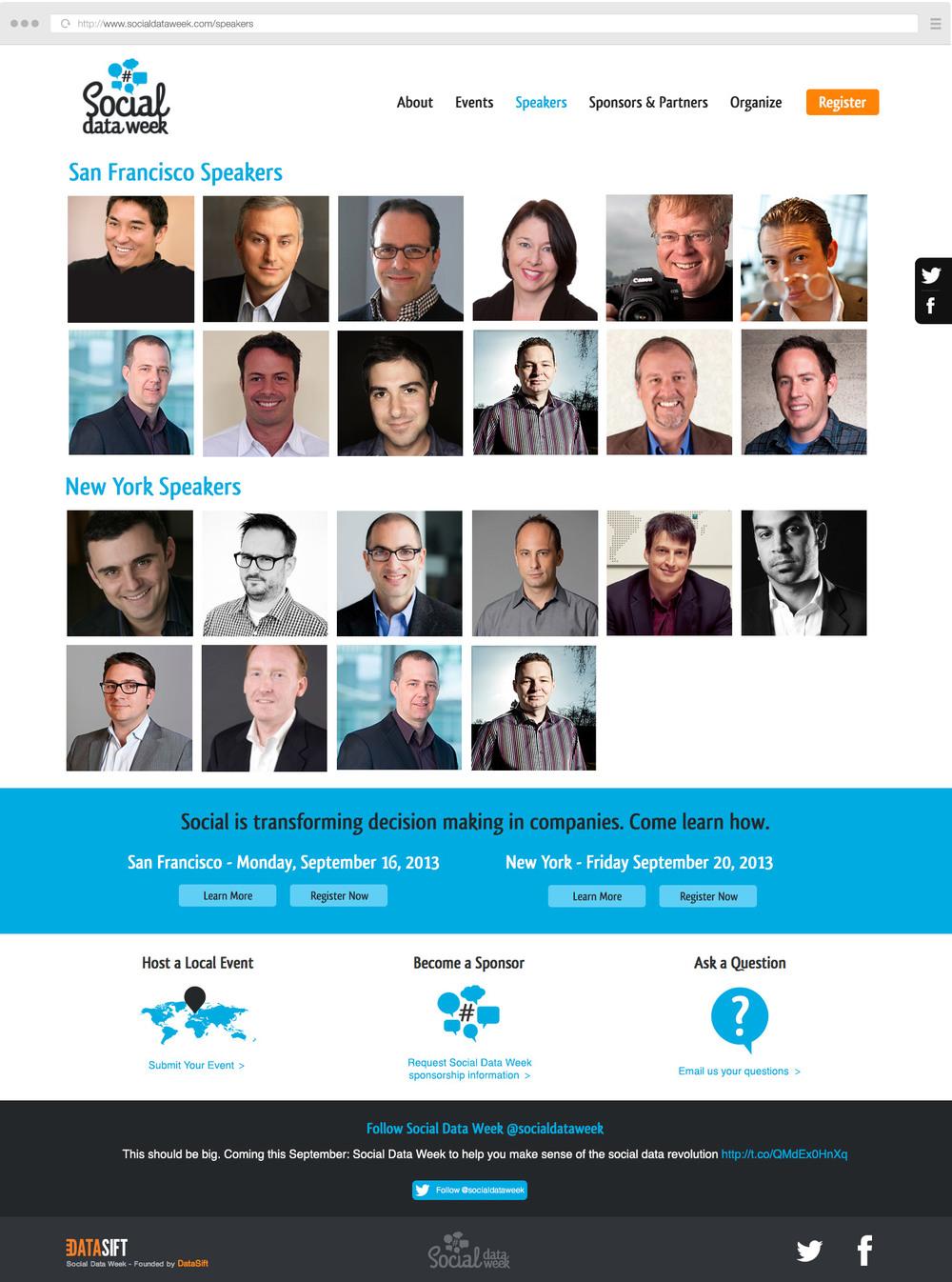 Social Data Week Speakers