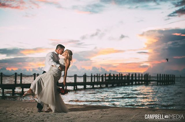 """Cotton Candy Sky Love"" #motivate #love #inspire #destinationweddingphotographer #wedding #weddingphotographer #bride #groom #cute #sunset #sky #weddingdress #editorial #beach #beautiful"