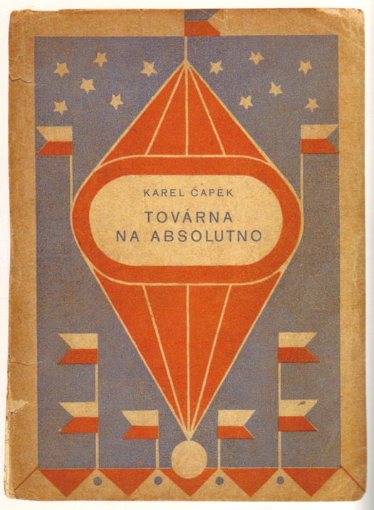 Josef Čapek, cover design for   The Absolute at Large   by Karel Čapek, 1922