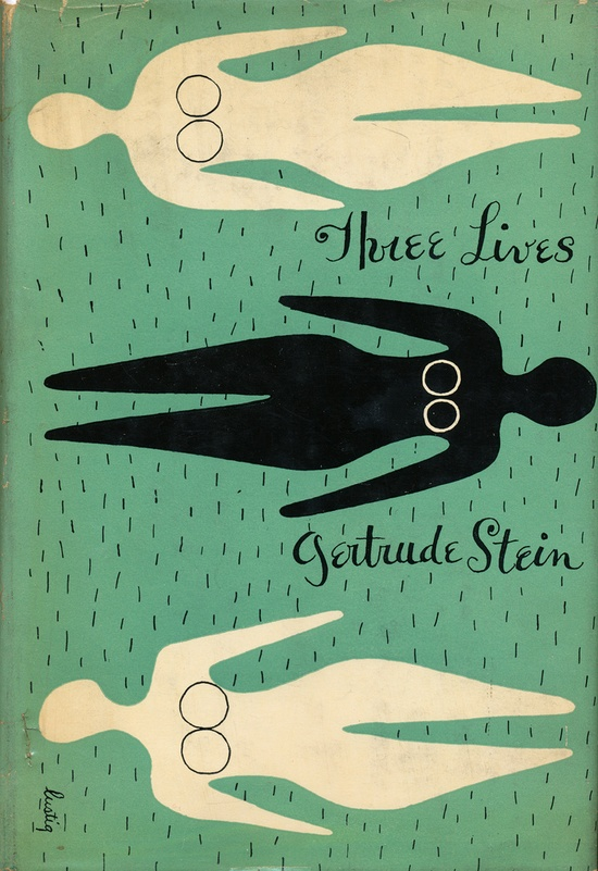 'Three Lives' by Gertrude Stein. Cover design by Alvin Lustig  via Scott Lindberg on Flickr