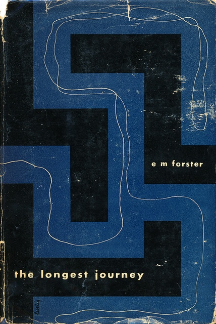 "E.M. Forster's ""The Longest Journey"" design by Alvin Lustig. New Directions, 1943. First Edition via"