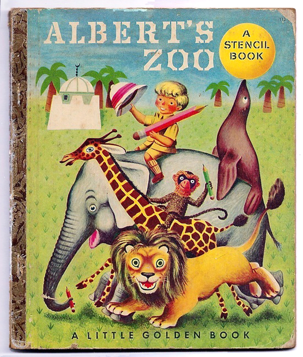 Albert's Zoo 1951 via  ebay . Illustrations by Richard Scarry