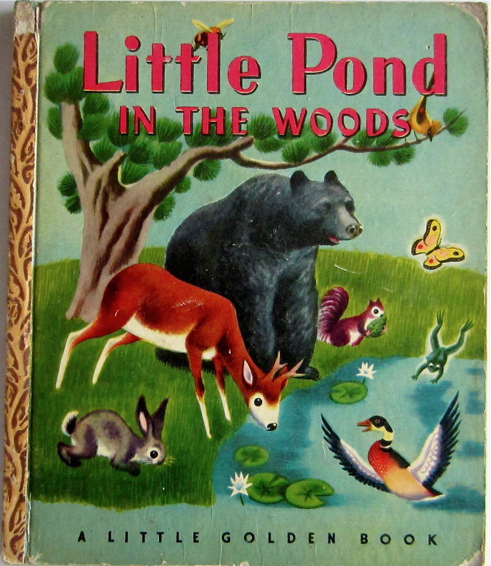 Little Pond in the Woods Little Golden Book First 'A' Edition Illustrated by Tibor Gergely 1948  via ebay