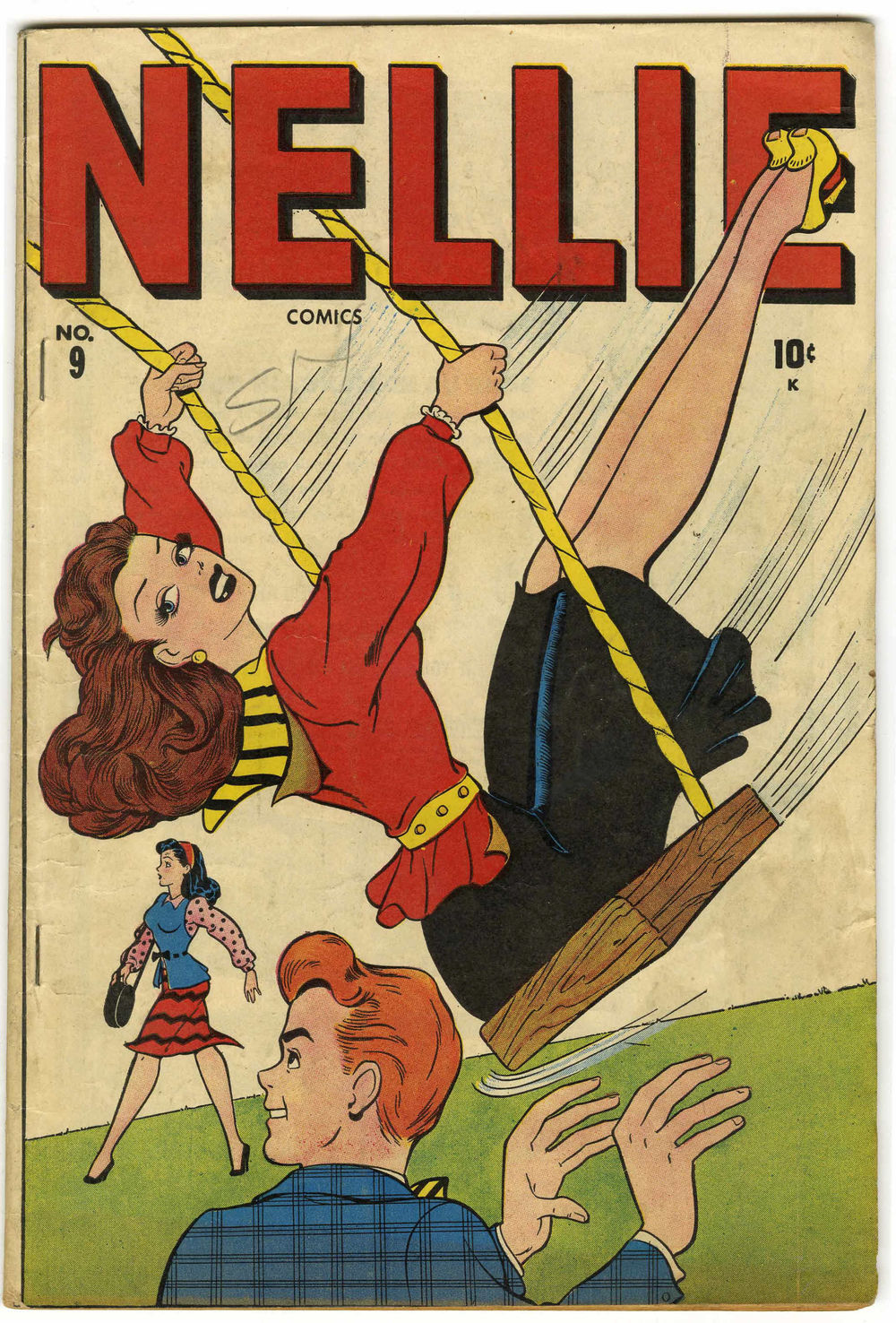 Nellie the Nurse #9 Cooksville pedigree (Timely, 1947) via  Heritage Auctions