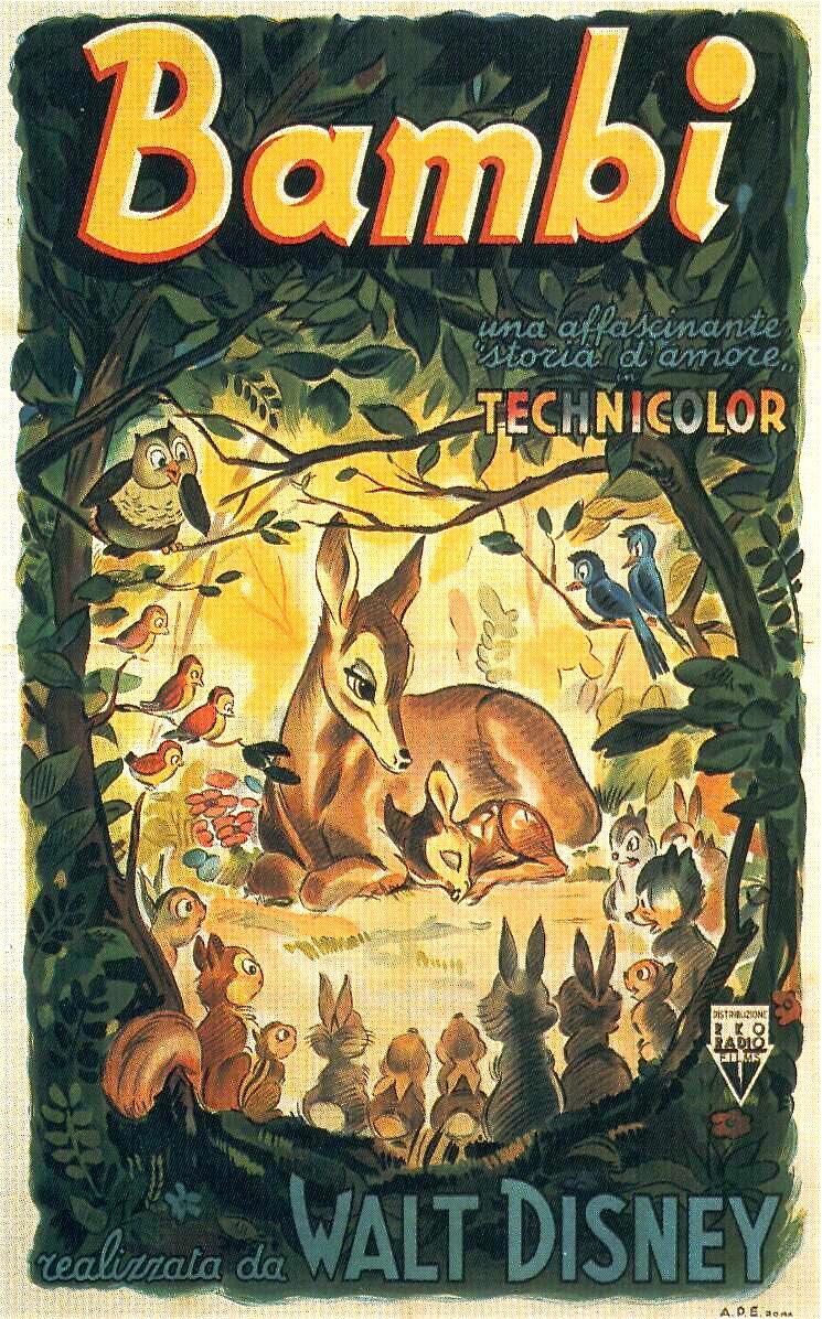 Walt Disney film poster (1942) Italy