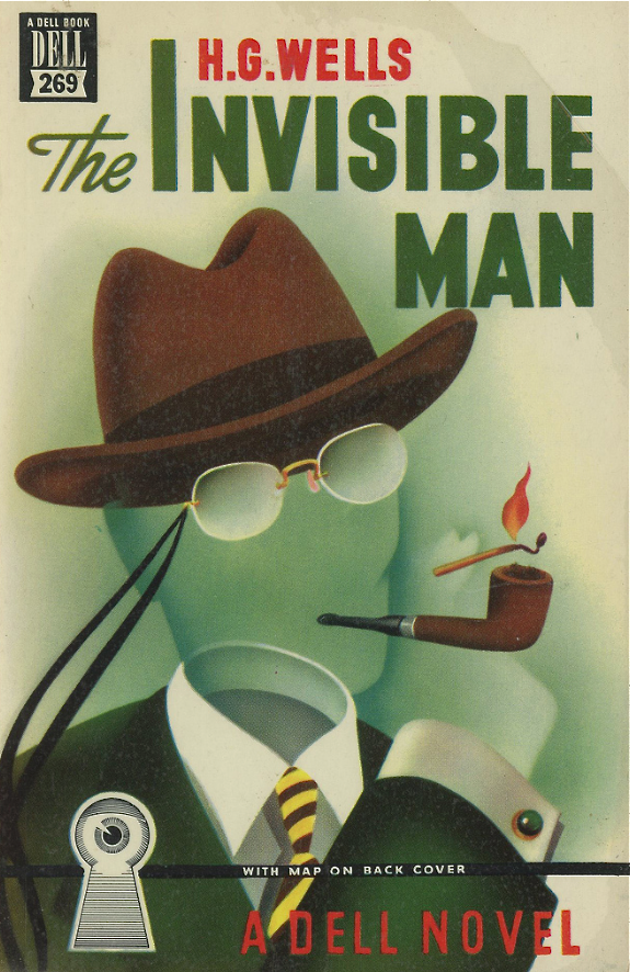 Dell No. 269 - The Invisible Man by H. G. Wells. Cover art by Gerald Gregg via  swallace99 on flickr . Lots of nice Gregg covers to be found here.