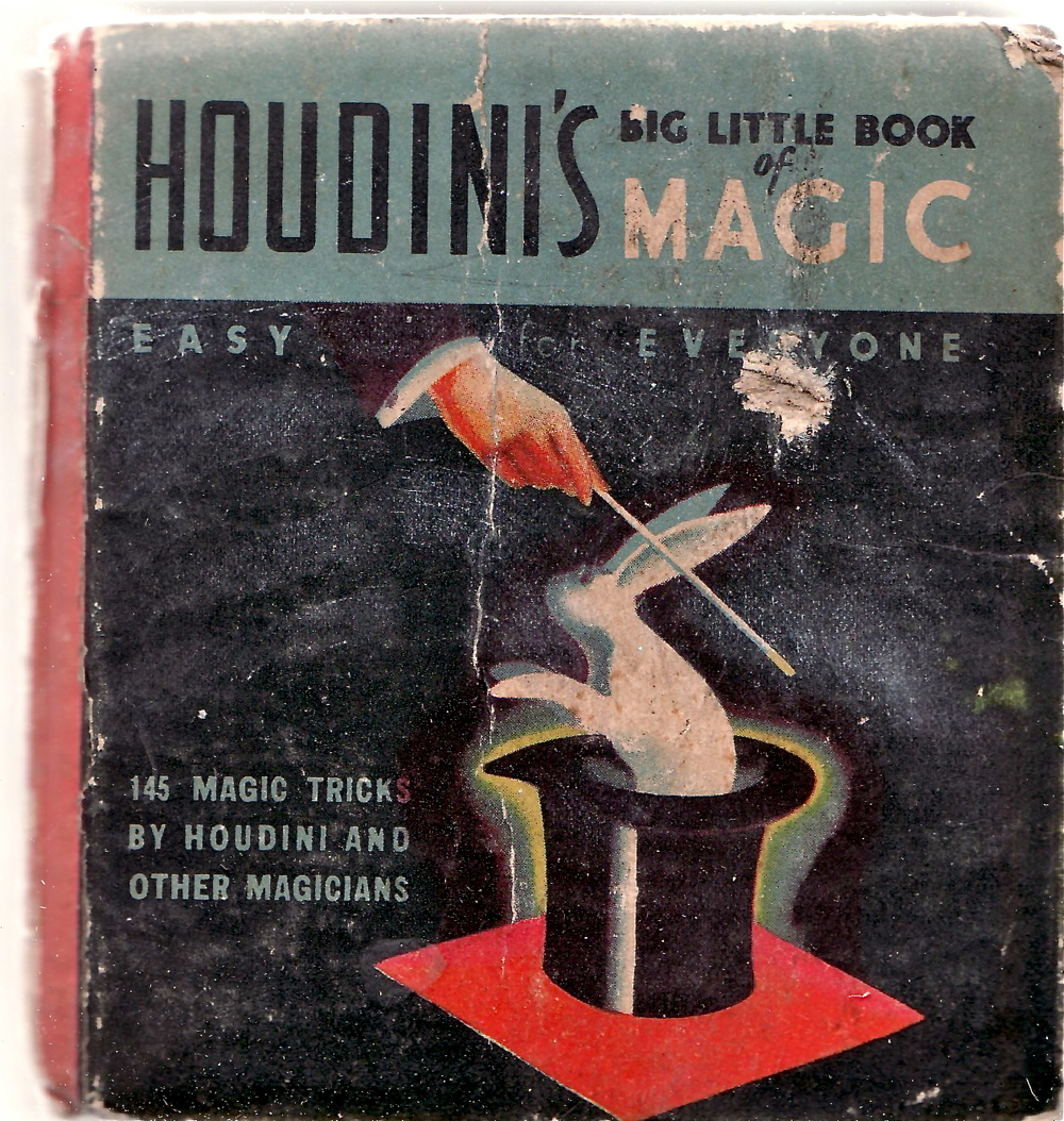 Houdini's Big Little Book of Magic 1933. Found on ebay.