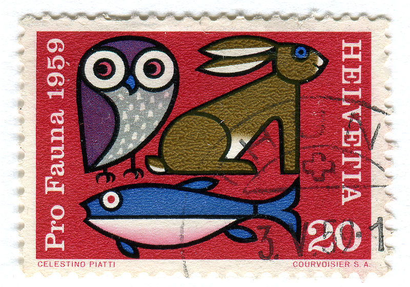 Swiss postage stamp 1959