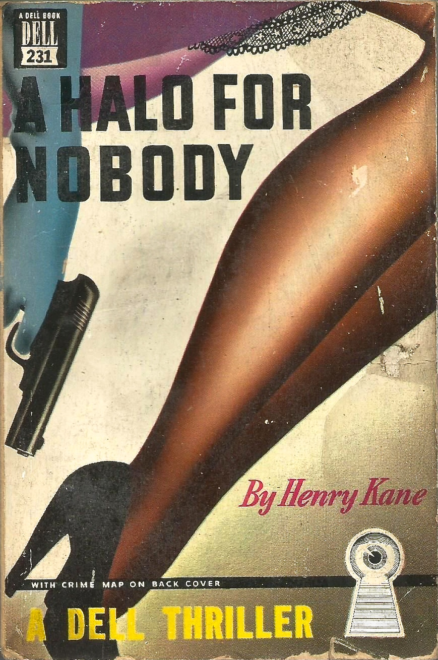 A Halo for Nobody by Henry Kane 1948 via  ebay