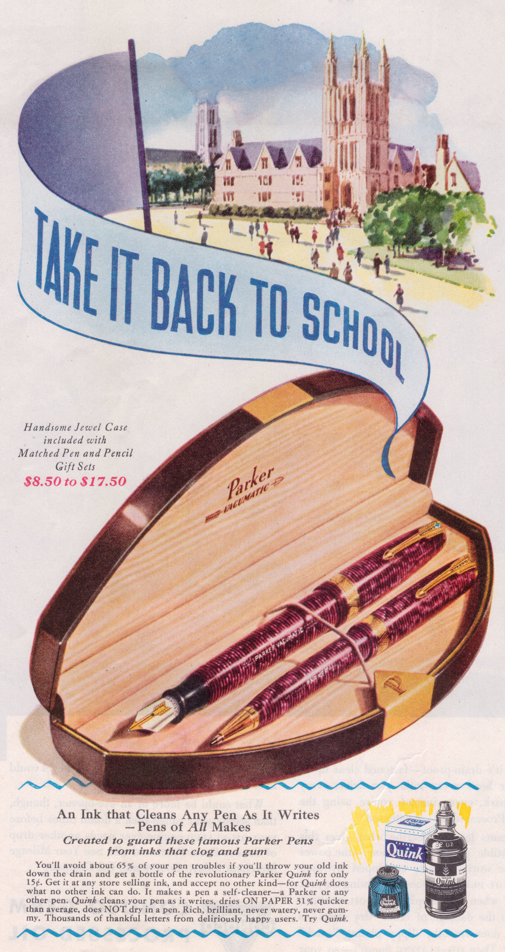 A 1939 parker vacuumatic ad.