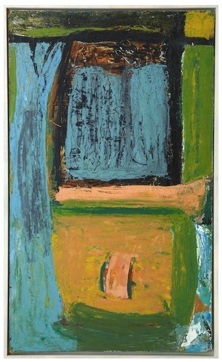 Harvey's Pool by Peter Lanyon 1954 | Oil on masonite  via