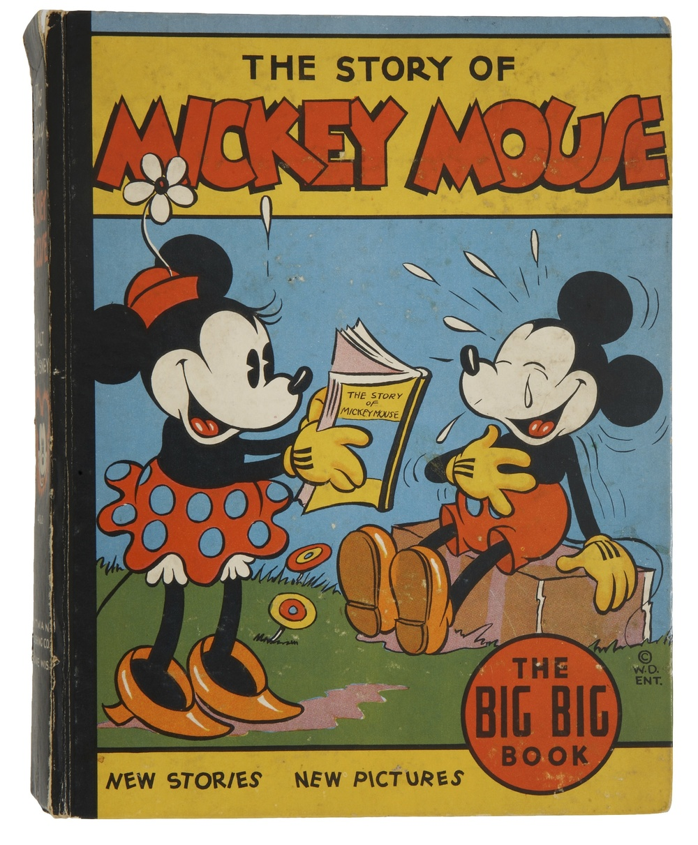 Walt Disney. The Story of Mickey Mouse and the Smugglers. Racine: Whitman Publishing, 1935. The Big Big Book. 316 pages.