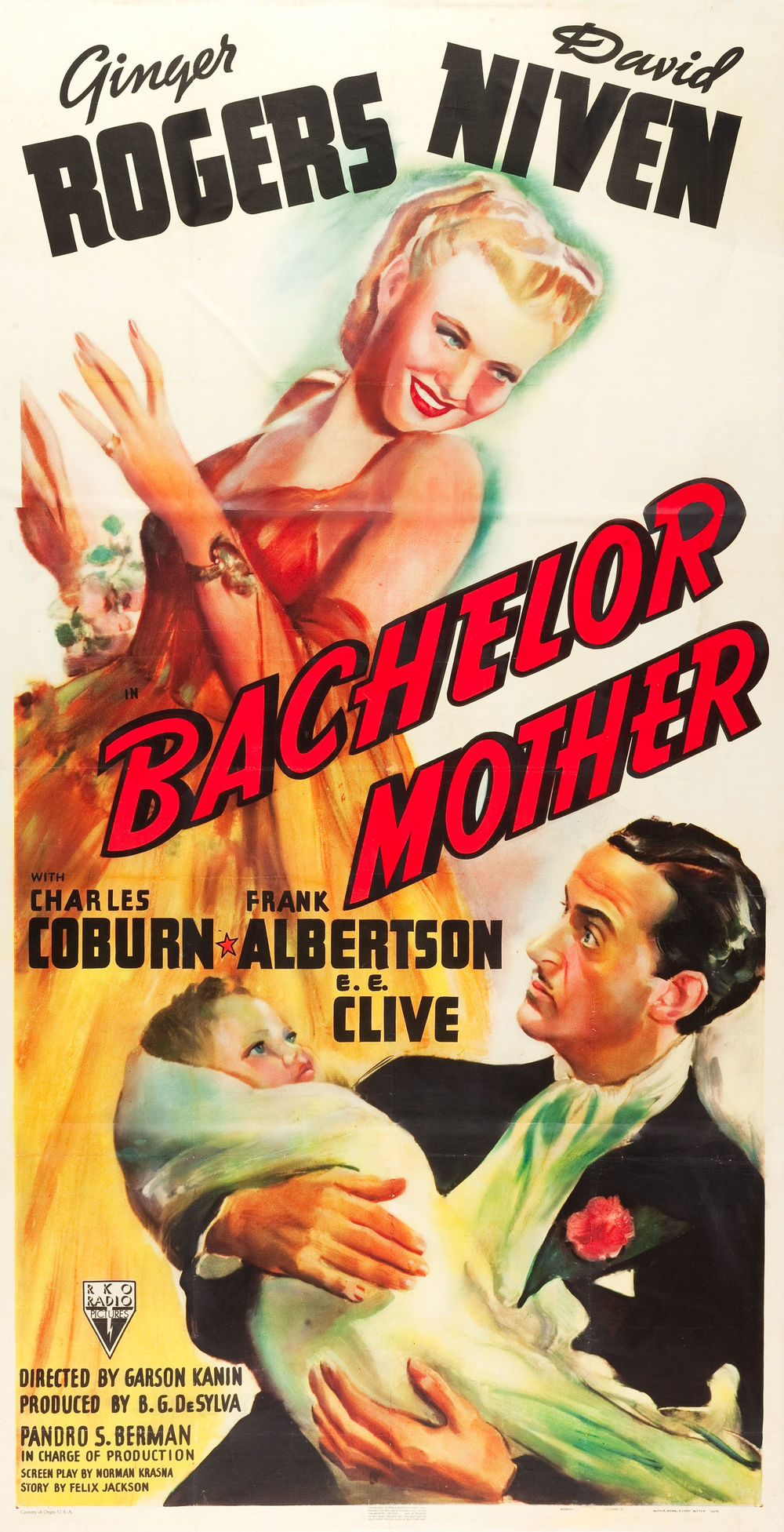 Bachelor Mother (1939) also takes place over the Christmas Holidays, beginning in the toy department of a department store on Christmas Eve --- just before Ginger Rogers receives her pink slip and finds herself mistaken for the mother of an abandoned baby. Again, plenty of snowy New York scenes. Funny and full of charm.