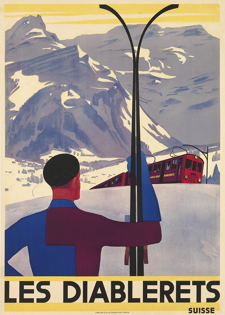 Designer Unknown. LES DIABLERETS / SUISSE. Circa 1930. This sold at auction for $6000.