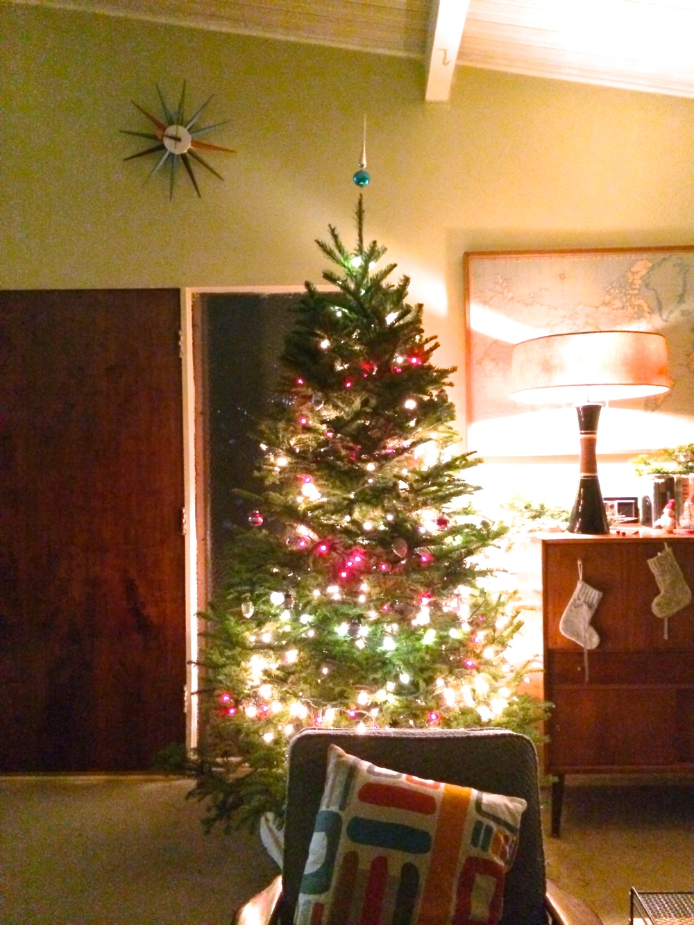 The absolute best way to get through the long dark nights of December is a glowy Christmas Tree.