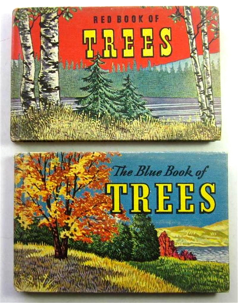 Blue and Red books of Trees 1948 via  ebay