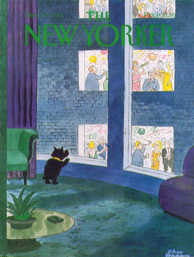 New Yorker cover Charles Addams | New Year's 12/30 1985