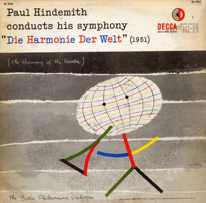 """Paul Hindemith """"Die Harmonie Der Welt"""" mid 1950s"""