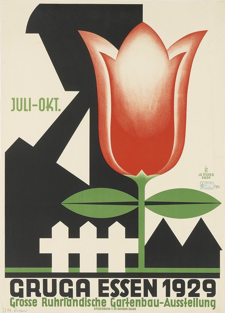 JO PIEPER (1873-1971) GRUGA ESSEN. 1929. (A park in essen, Germany)